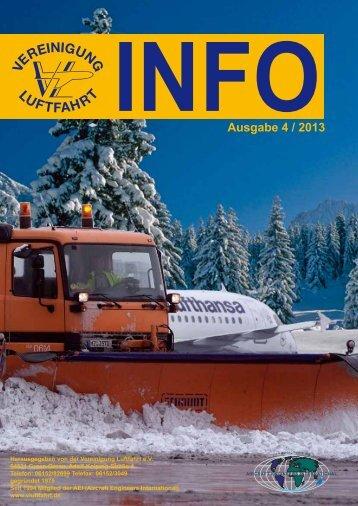 INFOAusgabe 4 / 2013 - Vereinigung Luftfahrt eV