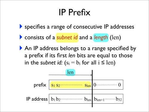 Subnet mask, static IP routing, longest prefix match
