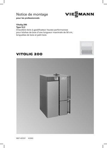 VITOLIG 200 Notice de montage
