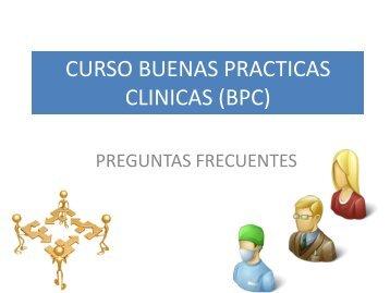 CURSO BUENAS PRACTICAS CLINICAS - CENDEISSS