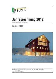Jahresrechnung 2012 - Ortsgemeinde Buchs