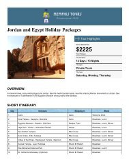 Jordan & Egypt | Holiday Packages - Memphis Tours Egypt
