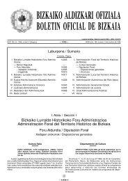 BIZKAIKO ALDIZKARI OFIZIALA BOLETIN OFICIAL DE BIZKAIA