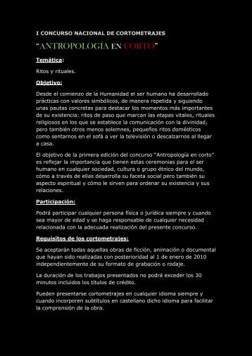 """ANTROPOLOGÍA EN CORTO"" - Museo Nacional de Antropología"