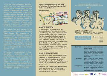 gènere i benestar: reptes i respostes feministes - Universitat Rovira i ...