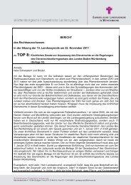 TOP 8 - Evangelische Landeskirche in Württemberg