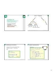 Grundlagen der Programmierung in C++ - TU Clausthal