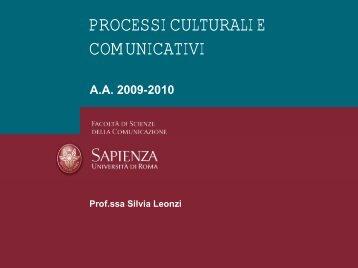 Definizione - Dipartimento di Comunicazione e Ricerca Sociale