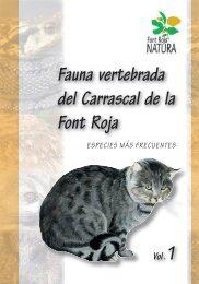 Fauna vertebrada del Carrascal de la Font Roja especies más ...