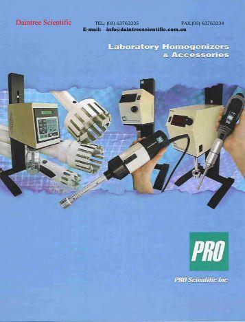 pro homogenisers - Daintree Scientific