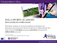 Presentation av Dala Sports Academy