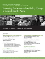Promoting Environmental and Policy Change to Support Healthy ...