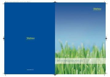 About Telefónica. Company Profile 2005 - O2