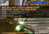 aet solar's cost-competitive systems lead the industry - Alternate ...