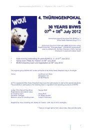 4. THÜRINGENPOKAL & 30 YEARS BVWS 07 + 08 July 2012