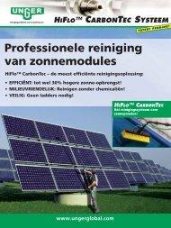 Professionele reiniging van zonnepanelen - ESSEF