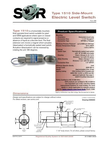 44 608 model tk1 side mounted liquid level switch magnetrol 1510 side mounted level switch sor inc sciox Image collections