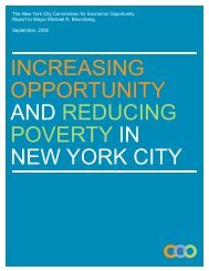increasing opportunity and reducing poverty in new york ... - NYC.gov