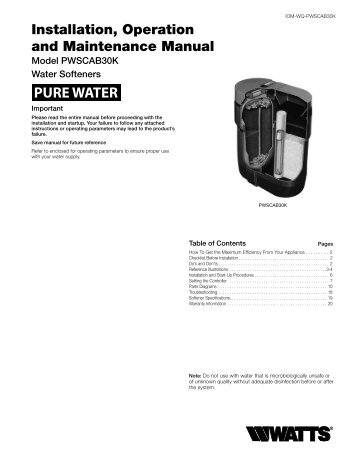 HS-2400 Water Treatment System From Watts® Pure Water