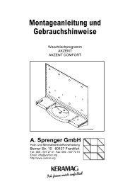 Montageanleitung Waschtischmodell AKZENT und ... - Varicor