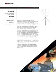 RF-9070 VHF/UHF Biconical High-Power Antenna Data Sheet