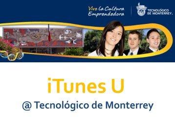 iTunes U - Tecnológico de Monterrey