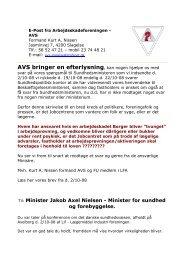 AVS bringer en efterlysning 18.11.08