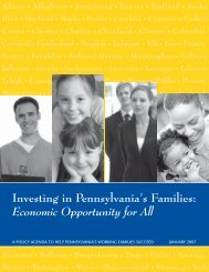 Pennsylvania assessment report - The Working Poor Families Project