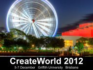 5-7 December Griffith University Brisbane - AUC