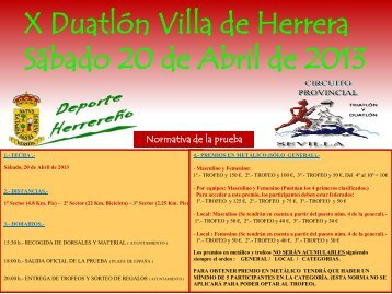 X Duatlón Villa de Herrera Sábado 20 de Abril de 2013