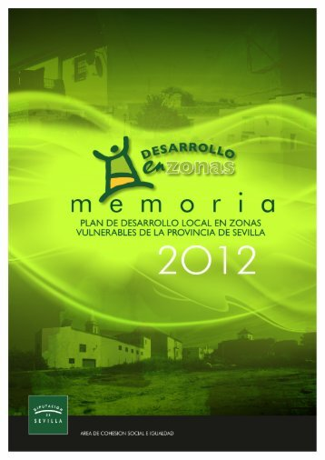 MEMORIA 2012 Plan Desarrollo Local Zonas Vulnerables