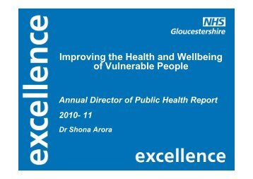 Department of Public Health Annual Report 2010-2011, Stroud District