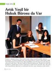 Artık Yeşil bir Hukuk Bürosu da Var - Serap Zuvin Law Offices