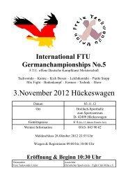 International FTU Germanchampionships No.5 - Budo Sport Report