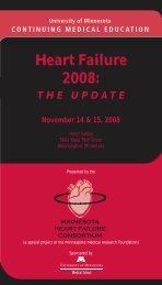 Heart Failure 08 - University of Minnesota Continuing Medical ...
