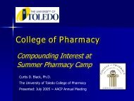 UT College of Pharmacy - AACP