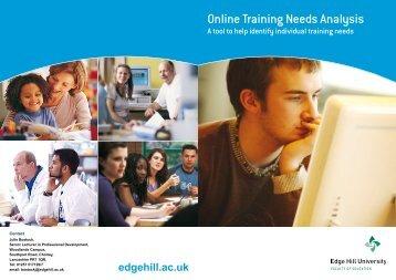 Online Training Needs Analysis