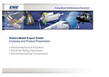 Elektro-Metall Export Gmbh Company and Product ... - EME