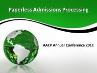 Paperless Admissions Processing - AACP