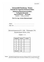 Universität Duisburg - Essen - Baustatik-Info-Server