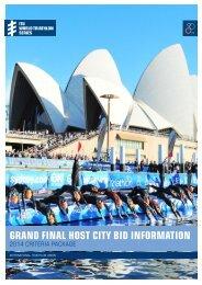 grand final host city bid information - International Triathlon Union