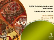 20121106_CESA 2012 Conference_DBSA & Project ...