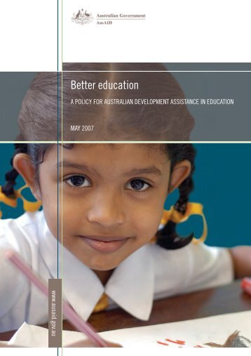 Better Education: A Policy for Australian Development ... - paddle