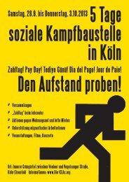 Flyer - Kölner Erwerbslose in Aktion
