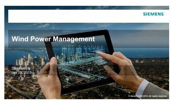 Wi d P M t Wind Power Management - Siemens