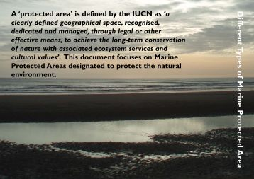 Different Types of Marine Protected Area - JNCC - Defra