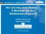 E-Mobilität bei den Stadtwerken Schwerin