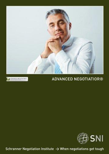 Advanced Negotiator Broschüre - Matthias Schranner