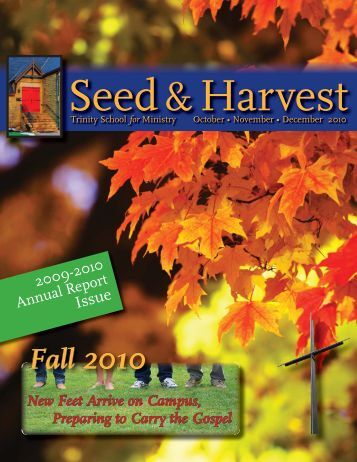 October-November-December 2010.pdf - Trinity School for Ministry