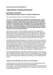 Sprachlicher Verbraucherschutz« – Rechtslage ist ... - Rolf Schwermer